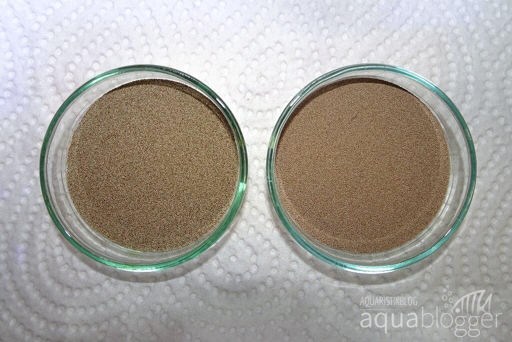 Sanders Artemia Eier verglichen mit Petifool Artemia Eiern